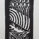 Black Ink on Linoleum Design
