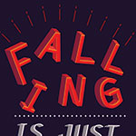 Falling Typography Poster V1