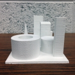 3D Printed Building - Right Side