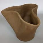 Curvy Ceramic Vessel - Bisque Stage