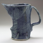 Cobalt Bamboo Pitcher