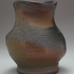 curved wood fired vase