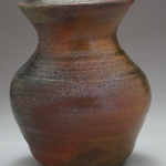 big smooth curved wood fired vase