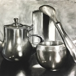 Charcoal Reflective Objects