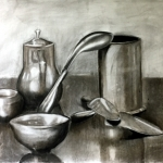 Reflective Objects: Charcoal