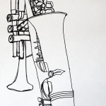 Continuous Line Instrument Drawing
