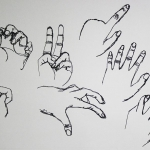 Continuous Contour Hand Drawing