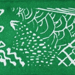 Green Lino-Block Print