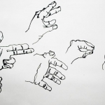 contour hand drawing
