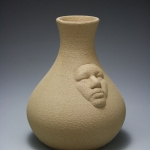 Clay merged vase