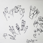 Contour Line Drawing HANDS