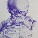 Skeleton Ballpoint Pen Drawing
