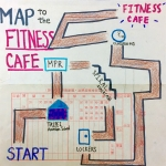 Map to the Fitness Cafe