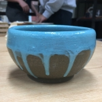 Mint Creme Ice Cream Bowl (Front View)