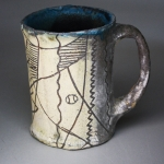 Sgraffito Decorated Mug