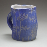 Sgraffito Mug with Tree Motif