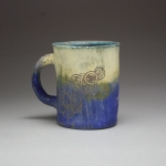 Sgraffito Ceramics Piece (Blue & Yellow)