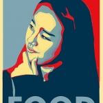 Obama HOPE Poster Inspired --FOOD