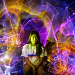 Light Trail Portrait