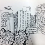 Mark Making City Scape Study