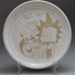 Rick and Morty Sgraffito Plate