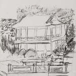 National Palace Museum Gardens Sketch